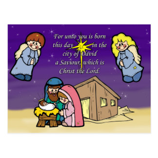 Cute Nativity Scene Christmas Card Post Cards