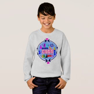😻🐾↷❤Cute Naughty Cat Family Earth-friendly Sweatshirt