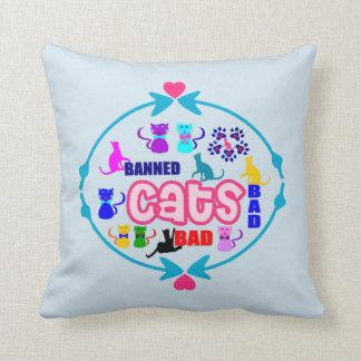 😻🐾↷❤Cute Naughty Cat Family Soft Wrinkle-free Cushion
