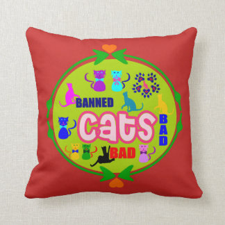 😻🐾↷❤Cute Naughty Cat Family Softand Wrinkle-free Cushion