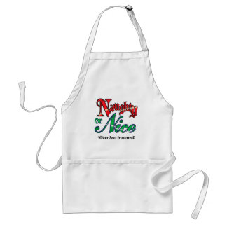 Cute Naughty or Nice Holiday Standard Apron
