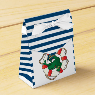 Cute Nautical Alligator Baby Shower Theme Favour Box
