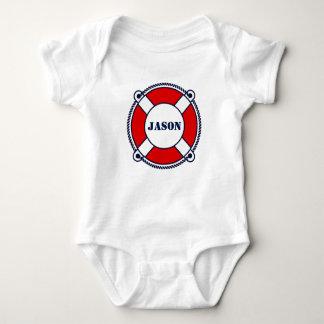 Cute nautical buoy custom baby bodysuit outfit