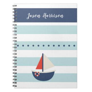 Cute Nautical Sailing Boat Notebook
