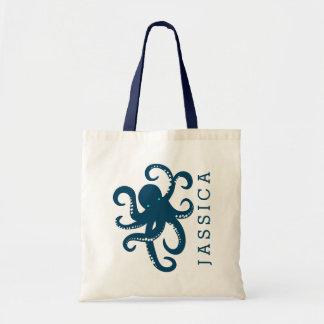 Cute Navy Blue Octopus Illustration