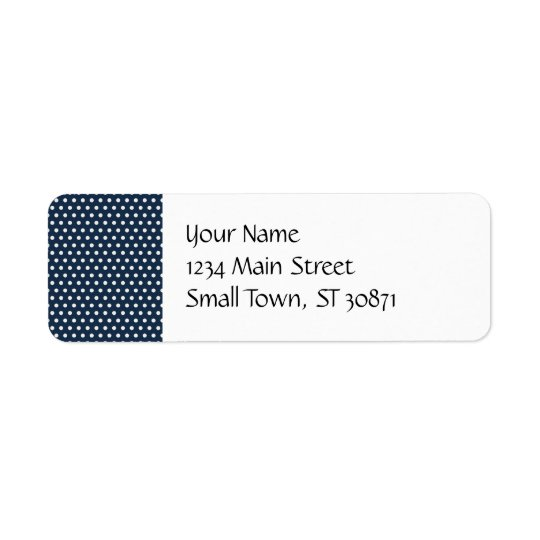 Cute Navy Blue White Tiny Little Polka Dots Gifts Return Address Label