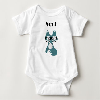 cute nerd baby bodysuit