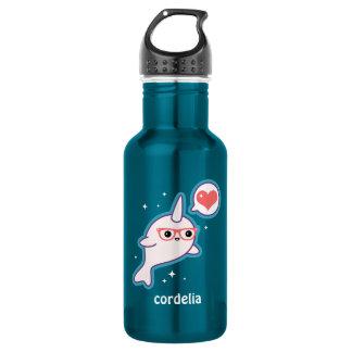 Cute Nerd Narwhal 532 Ml Water Bottle