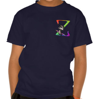 Cute Nerd Raccoon Monogram Z T-shirts