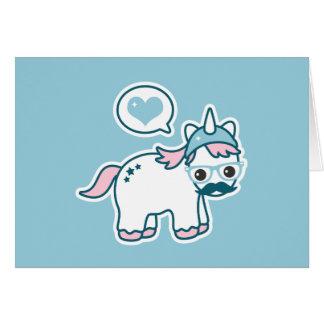 Cute Nerd Unicorn Card