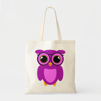 Cute Nerdy Owl Budget Tote Bag