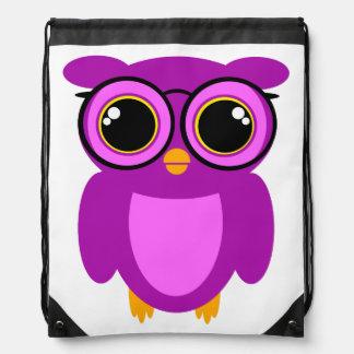 Cute Nerdy Owl Rucksacks