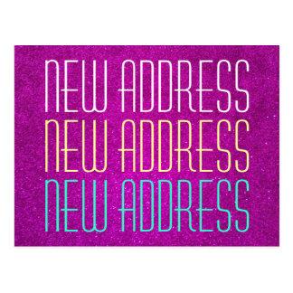 Cute new address typography postcards