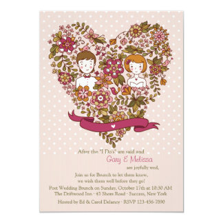 Cute Newlyweds Post Wedding Brunch Invitation