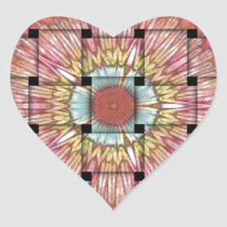 Cute Nice and Lovely Woven Design Heart Sticker