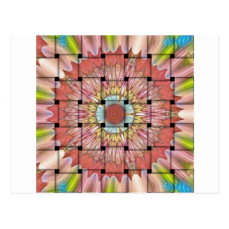 Cute Nice and Lovely Woven Design Postcard