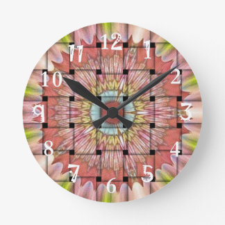 Cute Nice and Lovely Woven Design Round Clock