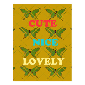 Cute Nie Lovely Vintage Butterfly.png Postcard