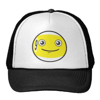 Cute Nine 9 Ball Billiard Cartoon Mesh Hats
