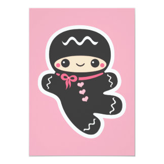 Cute Ninja Baby Shower Invitations