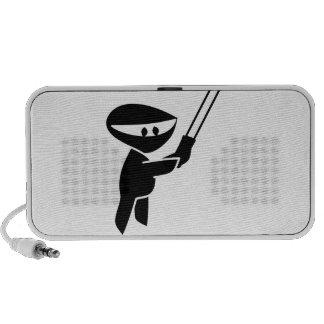 cute ninja graphic laptop speakers