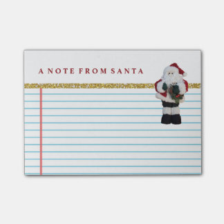 Cute Note From Santa Claus Vintage Retro