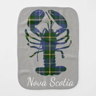 Cute Nova Scotia Lobster  tartan     burp cloth