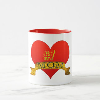 cute number one mum mother's day mug gift idea