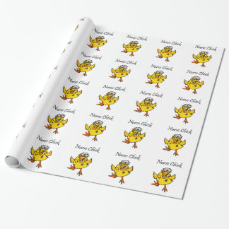 Cute Nurse Chick Cartoon Wrapping Paper