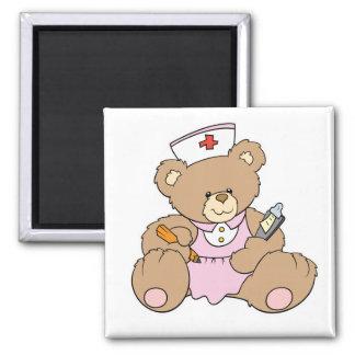 Cute Nurse RN Bear Magnet