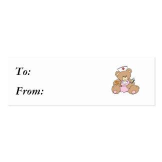 Cute Nurse RN Bear Pack Of Skinny Business Cards