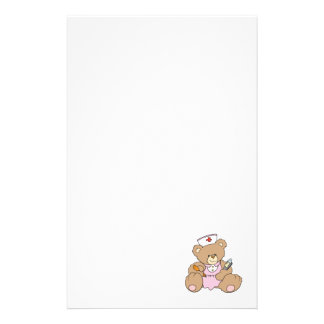 Cute Nurse RN Bear Stationery Design