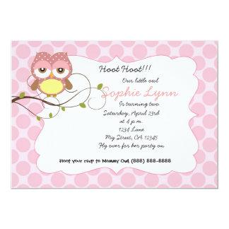 Cute nursery owl birthday / baby shower invitation