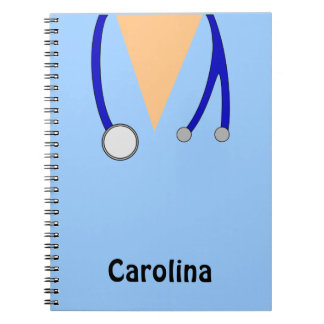 Cute Nurses Scrubs Whimsical Personalized Notebook