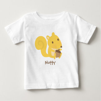 Cute Nutty Squirrel with Acorn Nut For Babies Baby T-Shirt