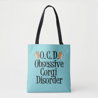Cute Obsessive Corgi Disorder Tote Bag