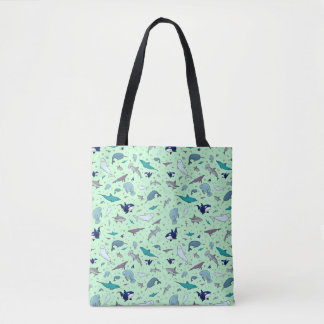 Cute Ocean Animal Tote Bag