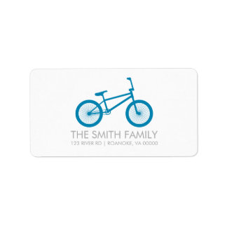 Cute Ocean Blue Bicycle Address Label
