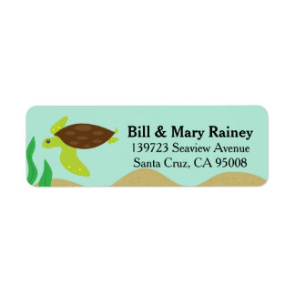 Cute Ocean Honu Sea Turtle Return Address Label