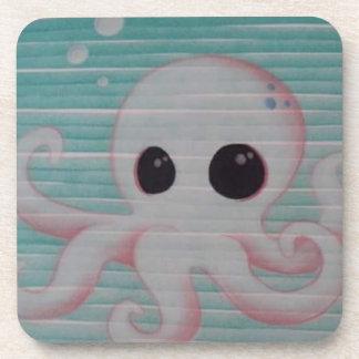 Cute Octopus Beverage Coasters