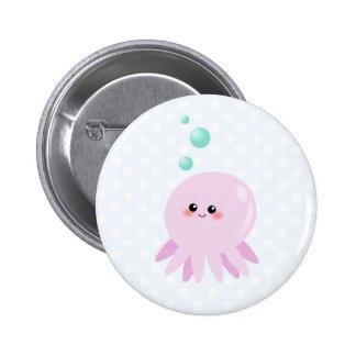 Cute octopus cartoon 6 cm round badge