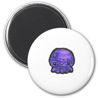 Cute Octopus round magnet