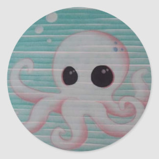 Cute Octopus Round Sticker