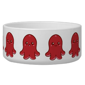 Cute Octopus Sausage Pet Bowl (Large)