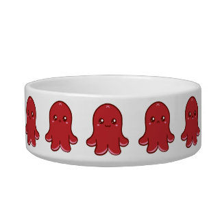 Cute Octopus Sausage Pet Bowl (Small)