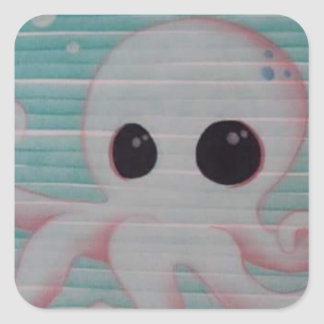 Cute Octopus Square Sticker