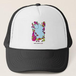 cute odd friend designer illustration trucker hat