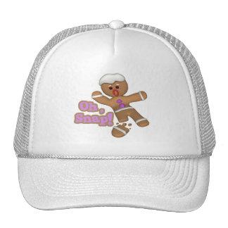 cute oh, snap gingerbread man cookie hat