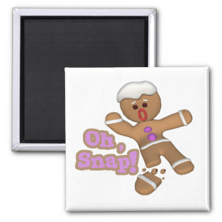 cute oh, snap gingerbread man cookie magnet