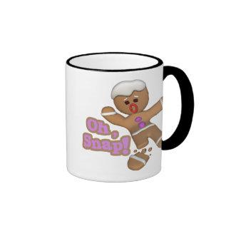 cute oh, snap gingerbread man cookie coffee mug